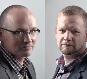 Kouluttajat Niko Alanen ja Pekka Hirvonen