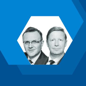 Harri Hietala ja Pekka Kähkönen, lakiasiain asiantuntijat